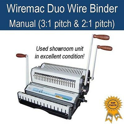 Used Wire Binding Machine Wiremac Duo (3:1 & 2:1 pitch) - in excellent condition