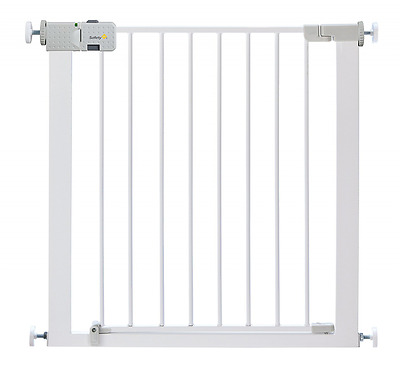 *BEST Child Stair Door Safety Gates Kids Toddler Metal Easy Instal Gate - White