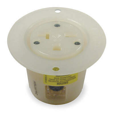 HUBBELL W Nylon/Polycarbonate Flanged Receptacle,Single,20A,6-20R,250V, HBL5479C