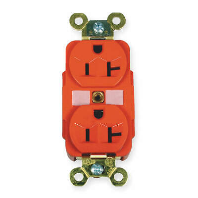 HUBBELL WIRI Nylon/Reinforced PET Receptacle,Duplex,20A,5-20R,125V,Red, HBL5362R