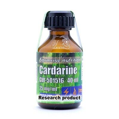 Research product Liquid Solution 40ml (25mg/ml) - Cardarine GW-501516