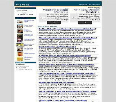 Home Improvement Adsense Amazon Article Website Free Hosting Domain Installation