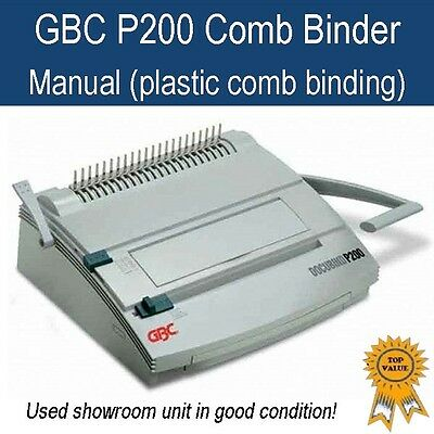 Used GBC P200 heavy duty plastic comb binder/ binding machine -in good condition
