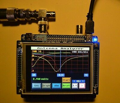 """HF Antenna Analyzer with touch screen controller (3.2"""" TFT LCD)"""