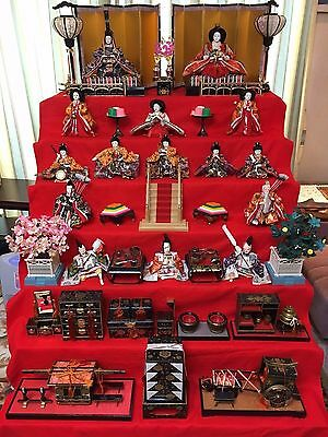 Japanese Hina-dalls set  set of tools and dolls!