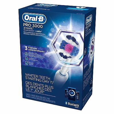 Oral-B Pro 3000 3D White Bluetooth SmartSeries Rechargeable Toothbrush New $87