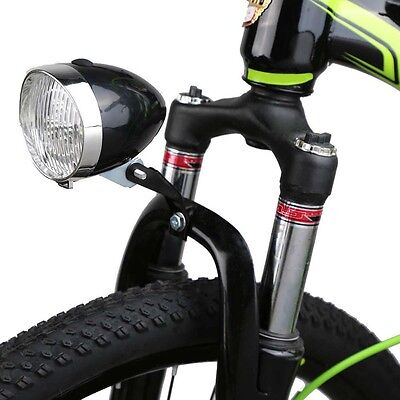 New Retro 3 LED Front Bicycle Bike Head Tail Light Lamp Flashlight Use AAA*3