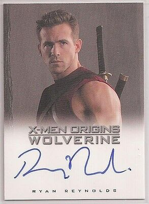 X-Men Origins Wolverine Autograph Card Auto Ryan Reynolds  Wade Wilson DEADPOOL