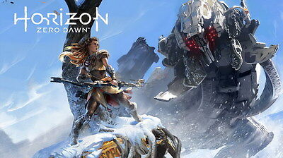 "018 Horizon Zero Dawn - Aloy Adventure Role Play Game 24""x14"" Poster"