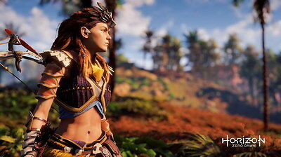 "036 Horizon Zero Dawn - Aloy Adventure Role Play Game 24""x14"" Poster"