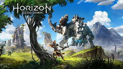 "001 Horizon Zero Dawn - Aloy Adventure Role Play Game 24""x14"" Poster"