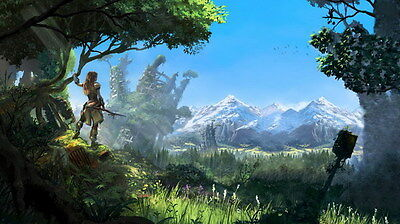 "016 Horizon Zero Dawn - Aloy Adventure Role Play Game 42""x24"" Poster"