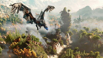 "019 Horizon Zero Dawn - Aloy Adventure Role Play Game 42""x24"" Poster"