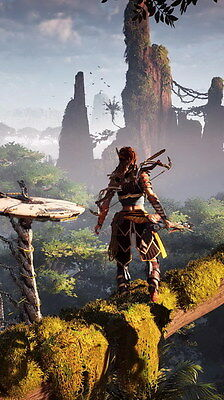 "011 Horizon Zero Dawn - Aloy Adventure Role Play Game 24""x42"" Poster"