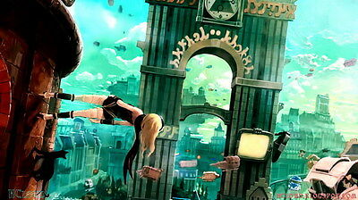 "012 Gravity Rush 2 - Action Fight Game 42""x24"" Poster"