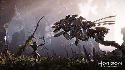"009 Horizon Zero Dawn - Aloy Adventure Role Play Game 42""x24"" Poster"