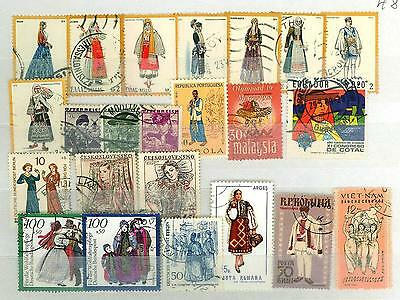 MTD B43 Greece and others Countries 23v used National Costumes
