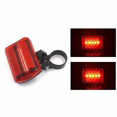 2PCS 5 LED Cycling Bicycle Bike Rear Tail Flashing Night Safety Light Lamp