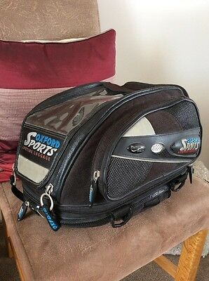 Oxford Sports Tank Bag Tail Bag Expander Type In Very Good Order
