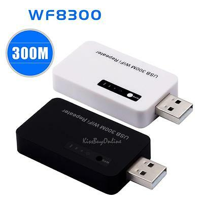 USB 300Mbps WiFi Range Extender 802.11b Wireless Repeater Router Signal Booster
