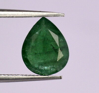 2.03 Cts Certified Natural Emerald Pear Cut 10x8 mm Green Shade Loose Gemstones