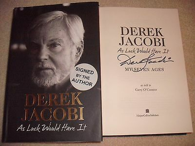 Derek Jacobi Signed Book - As Luck Would Have It