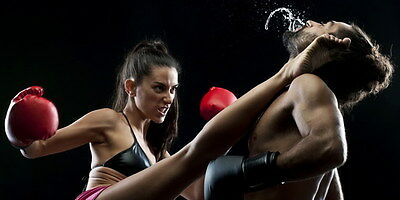 """081 Boxing - Muscle Power Fight Combat Sport 28""""x14"""" Poster"""
