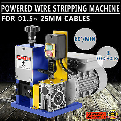 220V Powered Electric Wire Stripping Machine Peeler 1.5-25mm Scrap SPECIAL BUY