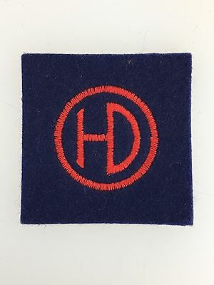 Vintage WWII British Army 51st (Highland) Division cloth sleeve formation patch