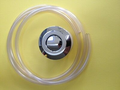 Whirlpool and Spa Bath Pneumatic on/off push button chrome finish