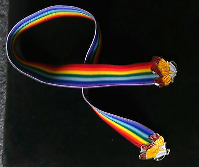1970's Disco Rainbow Retro Vintage Belt Elasticated.
