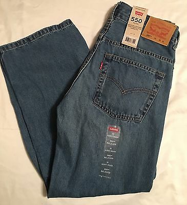 New Boys Levi's 550 Relaxed Fit Tapered Leg Jeans Sz 10 Husky 30 X 26 Nwt