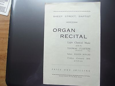 Two old musical concert programmes
