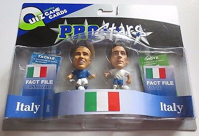 Italy 2 Player Pack Cannavaro & Totti Football Corinthian Figures Green Bases