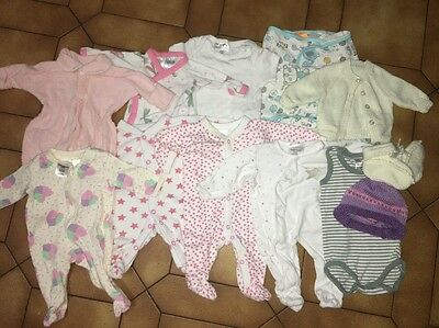 Baby Girls Newborn Mixed Lot Of Clothes One Piece Size 0000 00000