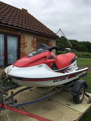 Red Yamaha 1200 Wave Runner 3 Seater Jetski + Trailer