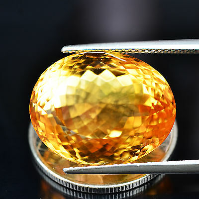 21.45ct Natural Oval Unheated Yellow Citrine Brazil #B