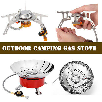 Outdoor Portable Gas Stove Cooker Hiking Camping Picnic Gas Burner BBQ Folding