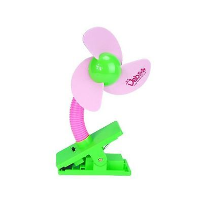 Cozyswan Baby Pushchair Cot Buggy Pram Mini Safety Clip-on Fan (Pink)