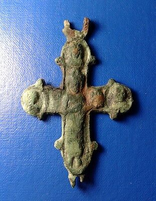 Ancient Bronze Cross-encolpions. 10th to the mid-14th century. Big !!!