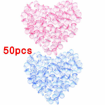 50pcs Mini Pacifiers Dummies for Baby Shower Christening Party Favor Table Décor