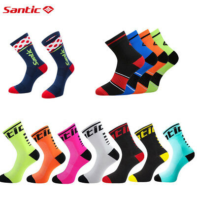 SANTIC Bicycle Socks Antibacterial Comfortable Running Cycling Sports Bike Socks
