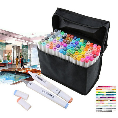 80 Colours Graphic Artist Sketch Fine Dual Head Markers For Drawing-Like Copic