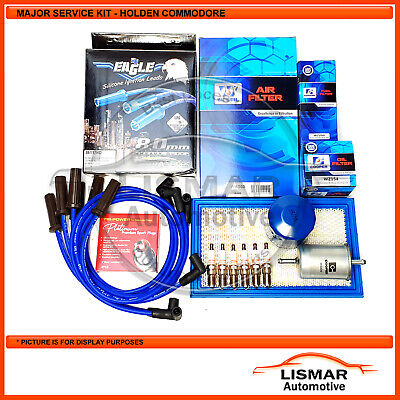 Major Service Kit for Holden Commodore VP, V6 3.8Ltr with Eagle Leads