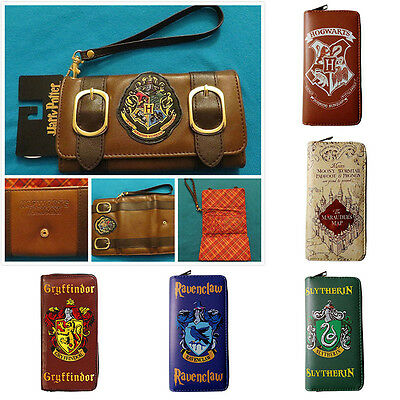 Harry Potter Wallet Hogwarts Marauders Map Badge Castle Crest Satchel Gryffindor