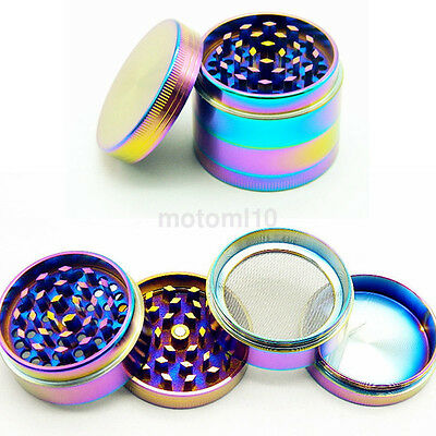 Practical Tobacco Herb Spice Grinder Zinc Alloy Smoke Metal Chromium Crusher UK