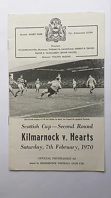 Kilmarnock v Hearts 7th February 1970 Scottish Cup 2nd Round Football Programme