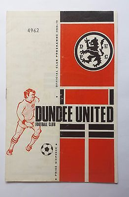 Dundee United v Celtic 7th March 1970 Scottish League Football Programme