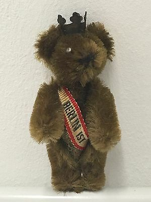 "WE4 * Vintage Antique Schuco Miniature Piccolo Mohair Teddy Bear Toy 2½"" tall"