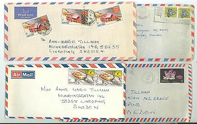 Kenya A33 Covers used 1978 Air Mail